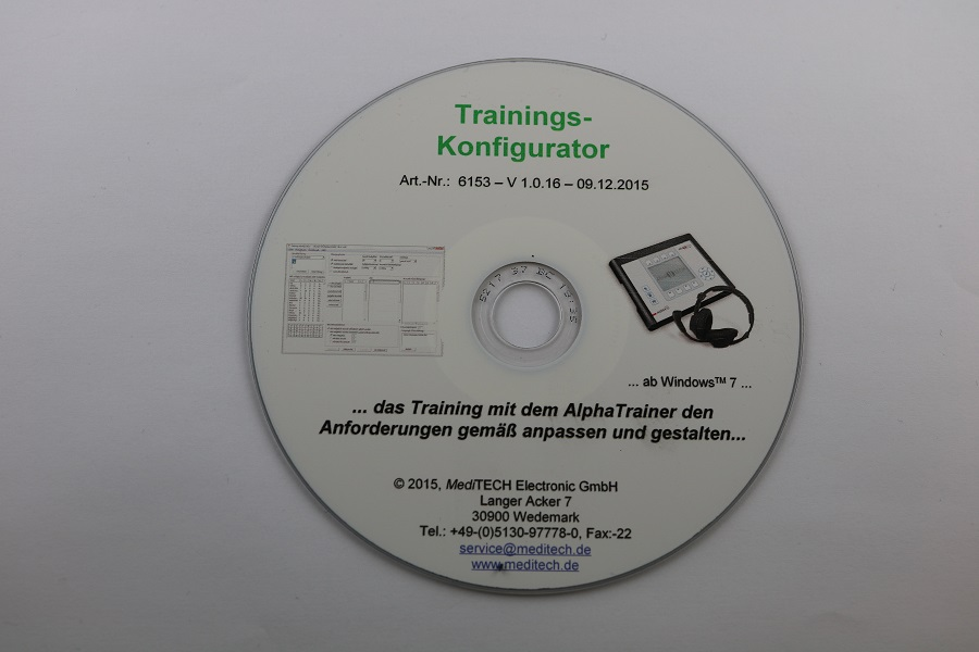 Trainingskonfigurator Software für AlphaTrainer Add-on