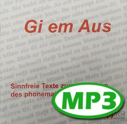 [2247-MP3-DE] Gi-em-off - audio file MP3, meaningless exercise text (40-50 words/minute)