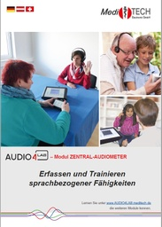 "[S174-DE] Flyer ""Audio4LAB-Modul Zentral-Audiometer"" (deutsch)"