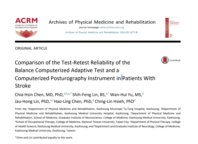 Comparison of the Test-Retest Reliability of the Balance Computerized Adaptive Test and a Computerized Posturography Instrument in Patients With Stroke