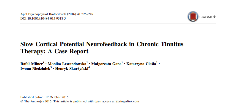 Slow Cortical Potential Neurofeedback in Chronic Tinnitus Therapy: A Case Report